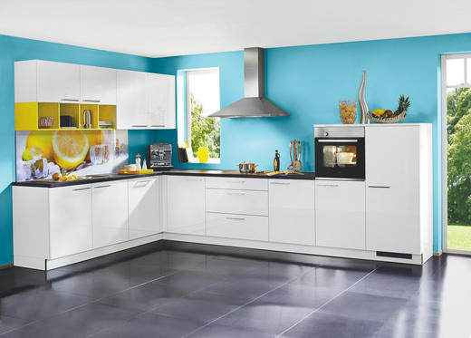 ECKKÜCHE - Gelb/Weiß, Design (345/395cm) - NOLTE KÜCHEN