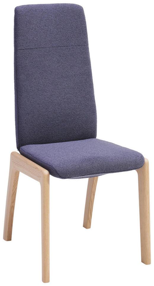 STUHL in Holz, Textil Lila, Eichefarben - Eichefarben/Lila, KONVENTIONELL, Holz/Textil (50/105/57cm) - Stressless