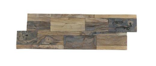 WANDVERKLEIDUNG - Teakfarben, Holz (55,5 cm/18 cm/1-2cm)