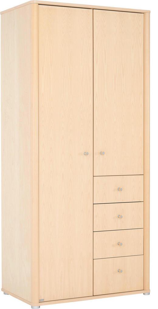 KLEIDERSCHRANK 2-türig Birke furniert Birkefarben - Birkefarben/Alufarben, Design, Holz/Holzwerkstoff (93.2/204.4/57.3cm) - Paidi