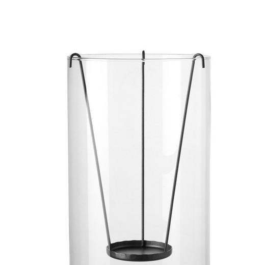 KERZENHALTER - Grau, Basics, Metall (15.5/25/15.5cm) - Leonardo