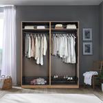 Kleiderschrank Unit 4 Türen, Breite ca.182,2cm - Weiß, MODERN, Holzwerkstoff (182,2/210/56,5cm) - Ombra