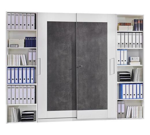 BÜRO erweiterbar, Beimöbel erhältlich Braun, Weiß - Braun/Weiß, Design (280/220,5/40cm) - Moderano