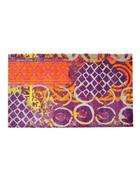FUßMATTE 75/50 cm Abstraktes Lila, Orange, Pink  - Pink/Lila, Trend, Kunststoff (75/50cm)