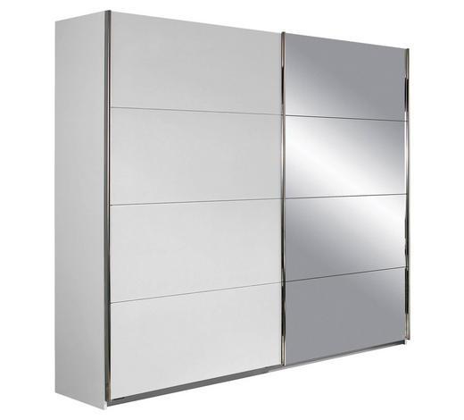 SCHWEBETÜRENSCHRANK in Weiß - Chromfarben/Weiß, Design, Holzwerkstoff/Metall (226/210/61cm) - Xora