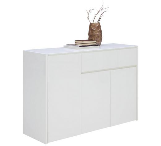 KOMMODE 124/85,2/40 cm - Weiß, Design, Glas/Holzwerkstoff (124/85,2/40cm) - Voleo