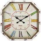 ZIDNI SAT - višebojno, Basics, papir/staklo (60/60cm) - AMBIA HOME