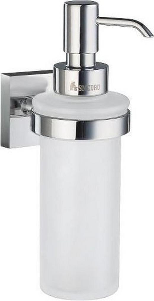 SEIFENSPENDER Glas, Metall - Chromfarben, Basics, Glas/Metall (6/18/8,4cm)