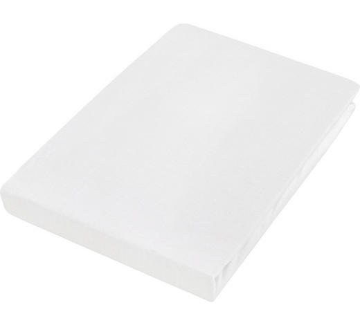 PROSTĚRADLO NAPÍNACÍ, žerzej, 180/200 cm - bílá, Basics, textil (180/200cm) - Boxxx