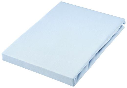 SPANNBETTTUCH Jersey Blau bügelfrei, für Wasserbetten geeignet - Blau, Basics, Textil (100/200cm)