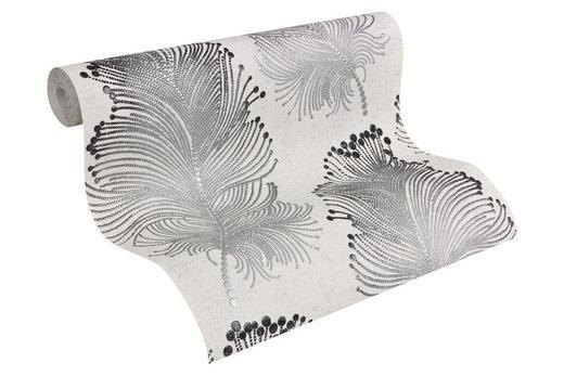 VLIESTAPETE 10,05 m - Silberfarben/Schwarz, LIFESTYLE, Textil (53/1005cm)
