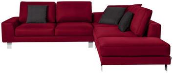 WOHNLANDSCHAFT in Textil Rot  - Chromfarben/Rot, Design, Textil/Metall (316/273cm) - Dieter Knoll