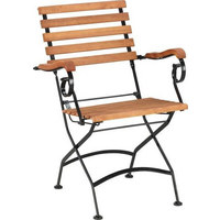 STOLICA VRTNA - crna/smeđa, Lifestyle, drvo/metal (59/85/60cm) - Ambia Garden