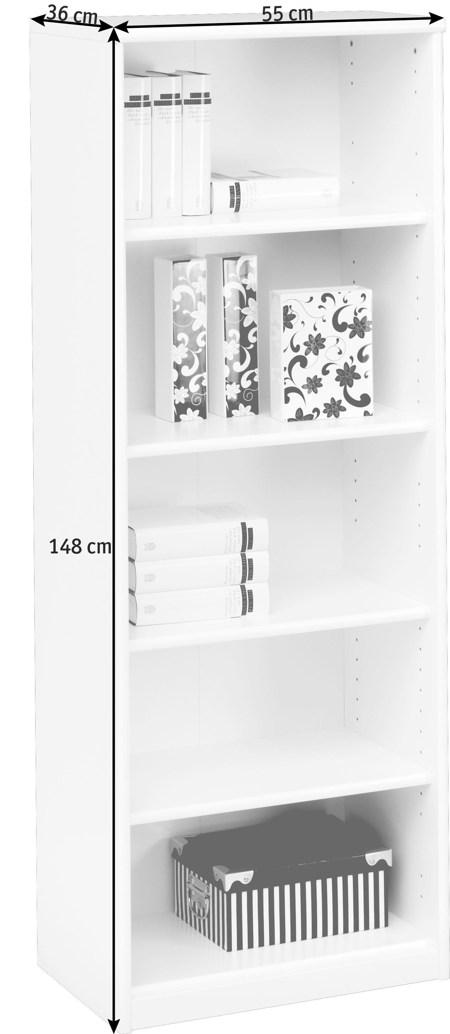 REGAL in 55/148/36 cm Ahornfarben - Ahornfarben, KONVENTIONELL, Holzwerkstoff (55/148/36cm) - CS SCHMAL