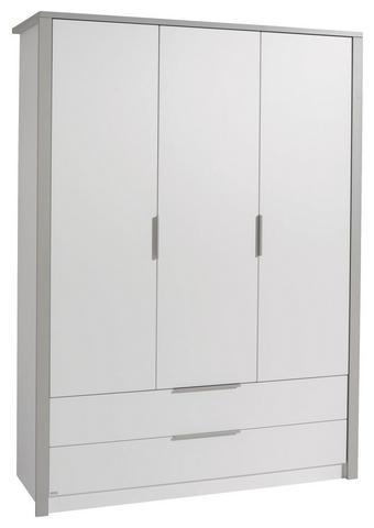 KLEIDERSCHRANK Faro Grau, Weiß  - Weiß/Grau, Design, Holzwerkstoff/Metall (148,5/202,8/56,2cm) - Paidi