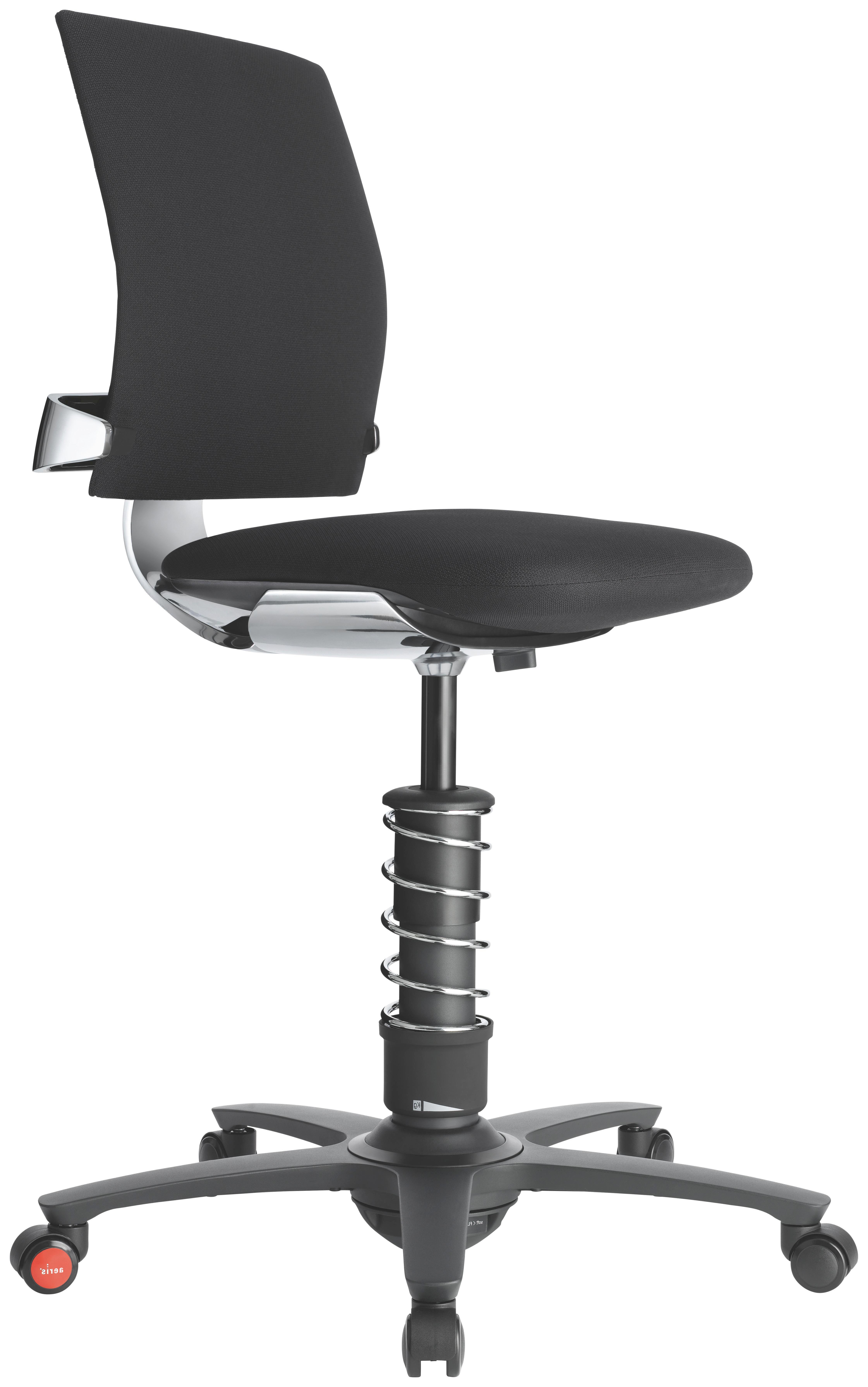 DREHSTUHL Chromfarben, Schwarz - Chromfarben/Schwarz, KONVENTIONELL, Kunststoff/Textil (58cm)