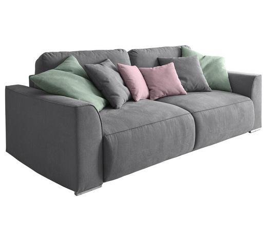 SCHLAFSOFA in Textil, Holzwerkstoff Grau - Pink/Silberfarben, Design, Holzwerkstoff/Kunststoff (250/87/129cm) - Carryhome
