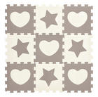SESTAVLJANKA HEART & STAR - siva/bela, Basics, umetna masa (32/32/1cm) - My Baby Lou