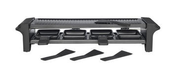 Raclette-Grill SET 9-TEILIG - Silberfarben/Schwarz, Basics, Kunststoff/Metall (52/11/11cm) - Homeware