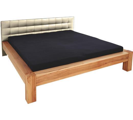 BALKENBETT in Holz, Textil Buchefarben, Beige - Beige/Buchefarben, KONVENTIONELL, Holz/Textil (180/200cm) - Linea Natura