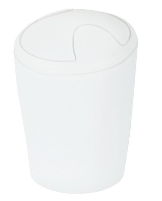 ABFALLEIMER - Hellrot/Weiß, Basics, Kunststoff (20/28cm) - SPIRELLA