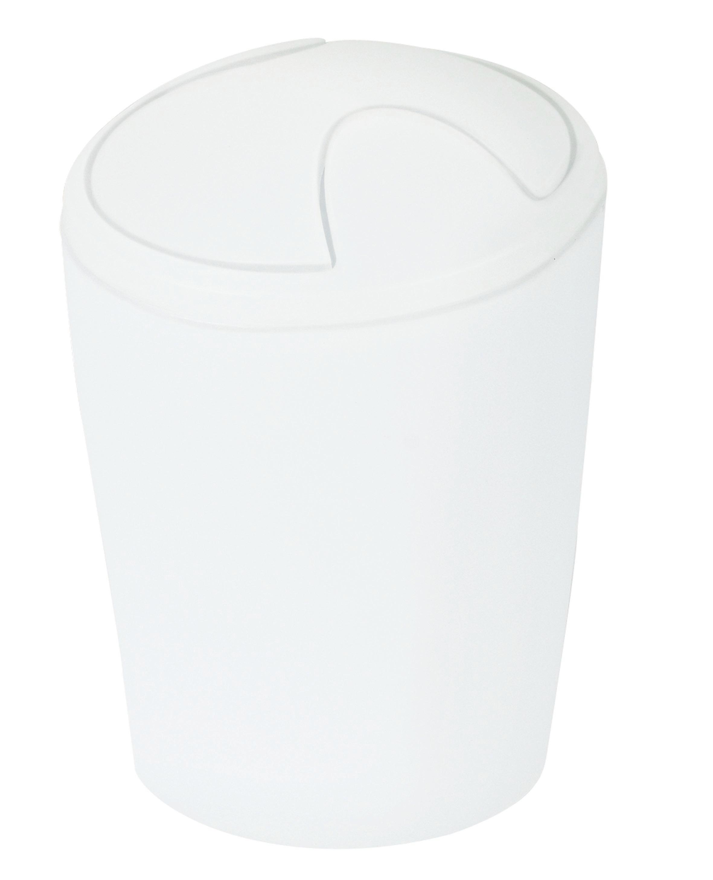 ABFALLEIMER - Weiß, Basics, Kunststoff (15/21cm) - SPIRELLA