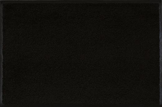 FUßMATTE 60/180 cm Uni Schwarz - Schwarz, Basics, Kunststoff/Textil (60/180cm) - Esposa