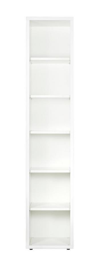AKTENREGAL Weiß - Schwarz/Weiß, Design, Holzwerkstoff/Kunststoff (44/217/35,7cm) - Carryhome