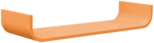 WANDBOARD Birke massiv Orange - Orange, Design, Holz (80/12/25cm) - Carryhome