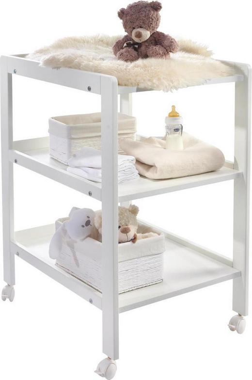 WICKELREGAL Buche Weiß - Weiß, Basics, Holz (55/91/72cm) - My Baby Lou