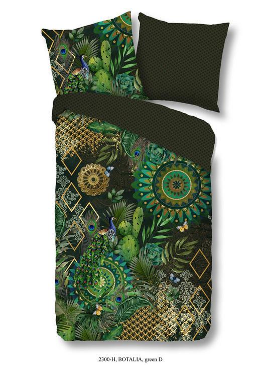 BETTWÄSCHE Satin Grün, Multicolor 135/200 cm - Multicolor/Grün, Trend, Textil (135/200cm)