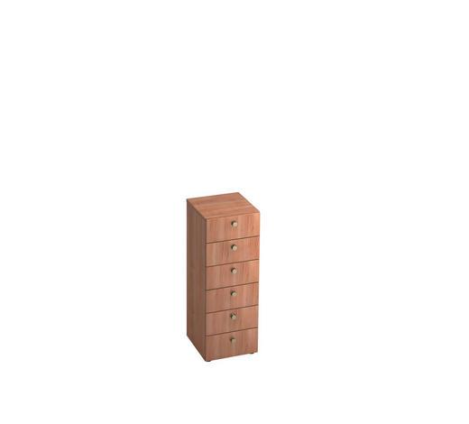 KOMMODE - Nussbaumfarben/Alufarben, KONVENTIONELL, Holzwerkstoff/Metall (40/110/42cm)