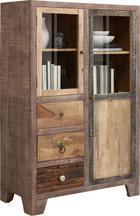 HIGHBOARD 95/147/45 cm - Messingfarben/Braun, LIFESTYLE, Glas/Holz (95/147/45cm) - Landscape
