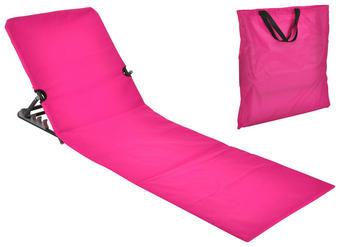 STRANDLIEGE Stahl pulverbeschichtet Polyvinylchlorid (PVC), Schaumstoff Pink - Pink, Basics, Kunststoff/Metall (47/52/145cm)
