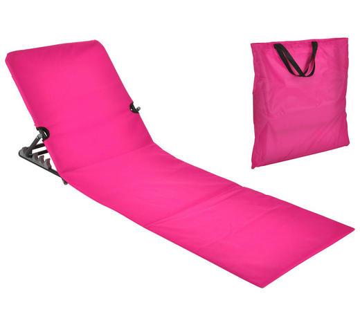 STRANDLIEGE Stahl pulverbeschichtet Polyvinylchlorid (PVC), Schaumstoff Pink  - Pink, Basics, Kunststoff/Metall (145/47/52cm)
