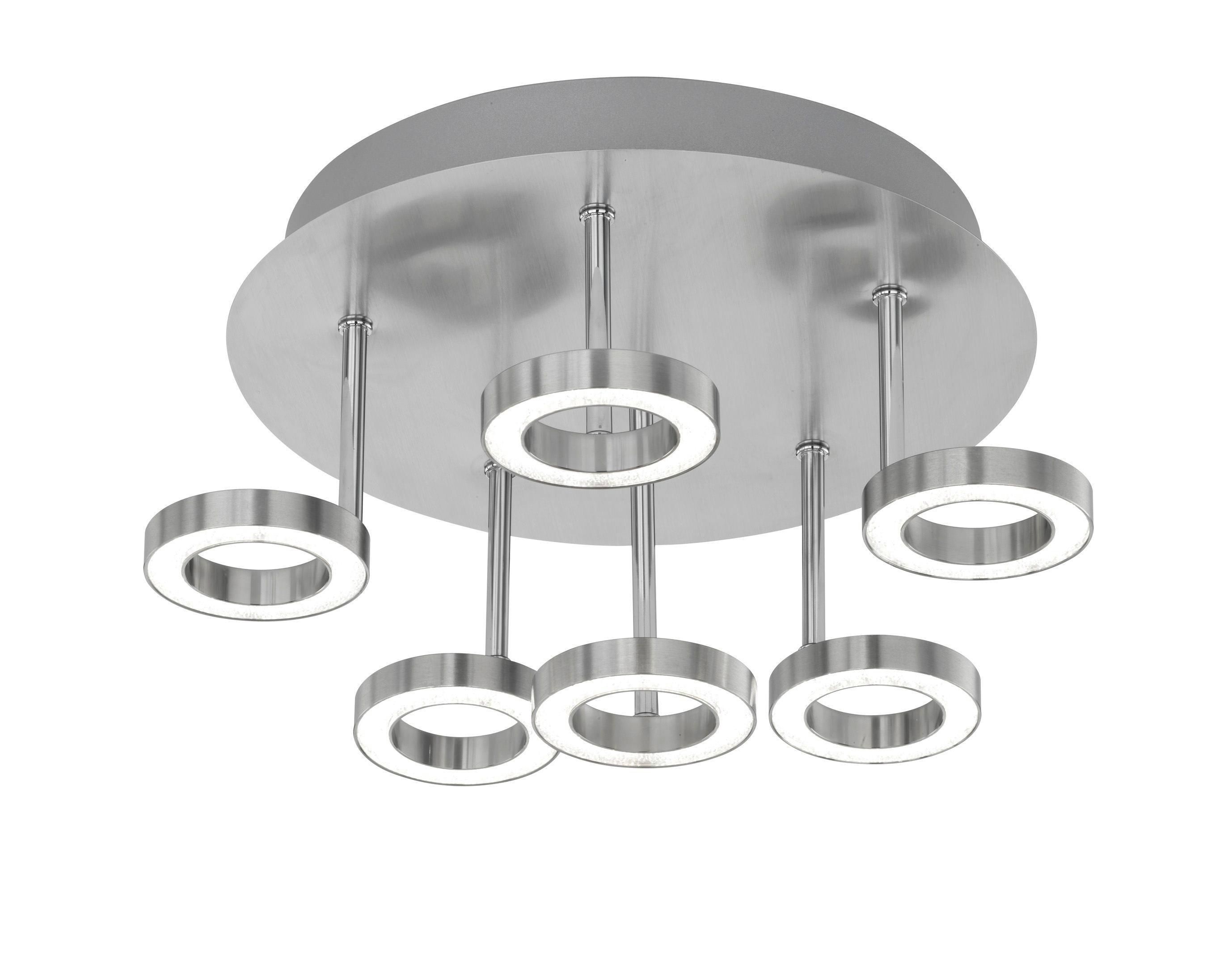 LED-DECKENLEUCHTE - Chromfarben/Nickelfarben, Design, Kunststoff/Metall (35/20/35cm)