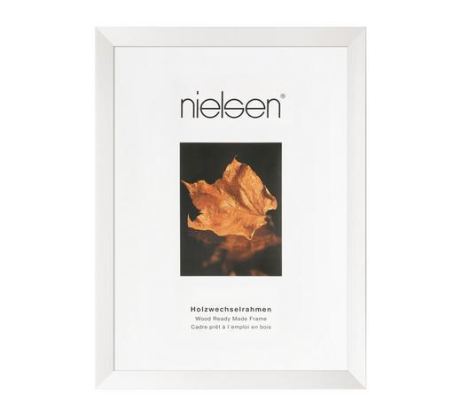 BILDERRAHMEN  Weiß  - Weiß, Basics, Glas/Holz (13/18cm) - Nielsen