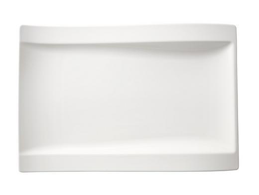 SPEISETELLER Keramik Porzellan - Weiß, Basics, Keramik (37/25cm) - Villeroy & Boch