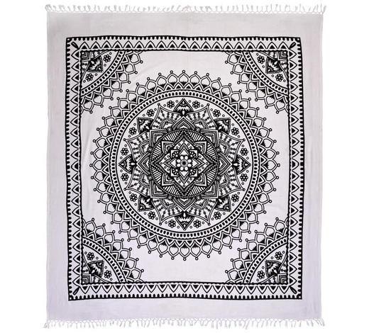 PLÁŽOVÁ OSUŠKA, 210/250 cm, černá, bílá - bílá/černá, Lifestyle, textil (210/250cm) - Esposa