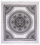 PLÁŽOVÁ OSUŠKA - bílá/černá, Lifestyle, textilie (210/250cm) - Esposa