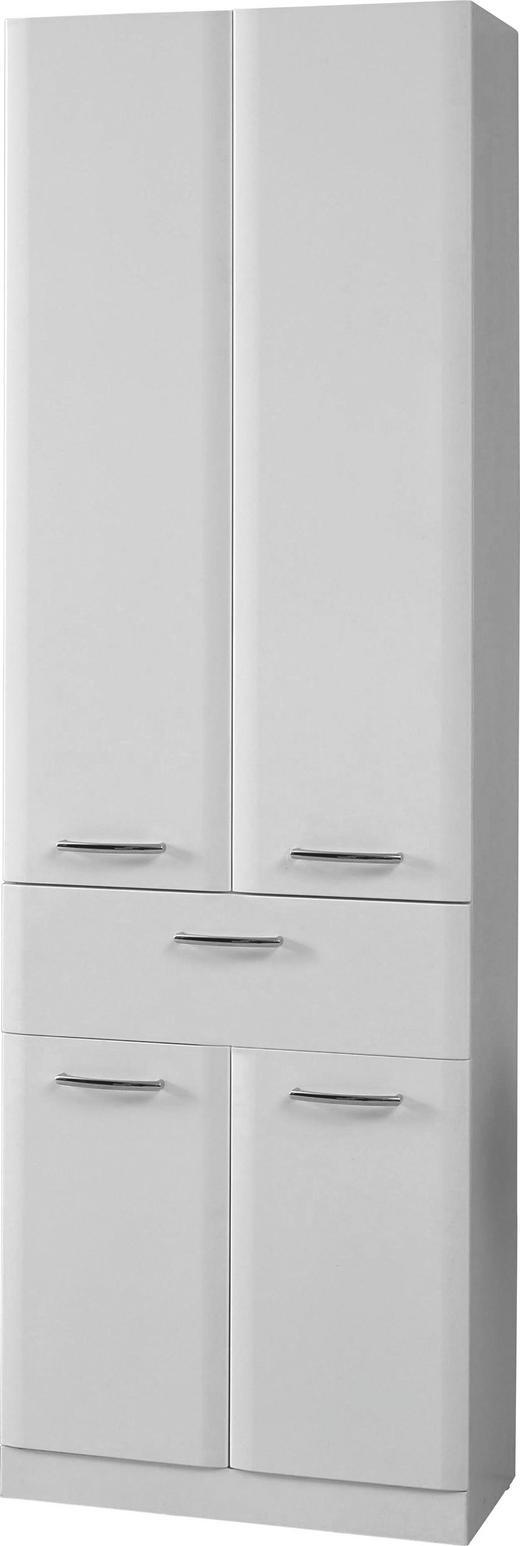 HOCHSCHRANK Weiß - Chromfarben/Weiß, Design, Holzwerkstoff (60/192/32cm) - Carryhome