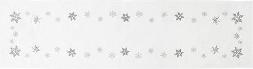TISCHLÄUFER Textil Weiß 40/150 cm - Weiß, Design, Textil (40/150cm) - X-Mas