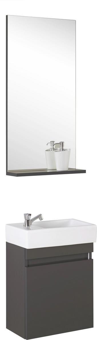 BADEZIMMER - Anthrazit, Design, Glas/Keramik (43/26cm) - Xora