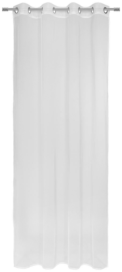 Ösenvorhang halbtransparent - Weiß, KONVENTIONELL, Textil (140/245cm) - Esposa