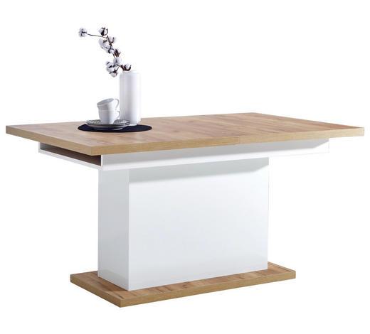 JÍDELNÍ STŮL, bílá, barvy dubu - bílá/barvy dubu, Konvenční, kompozitní dřevo (150-200/90/76cm) - Carryhome