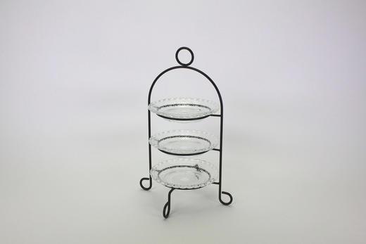 ETAGERE - Basics, Glas/Metall (29,5/32/18cm)