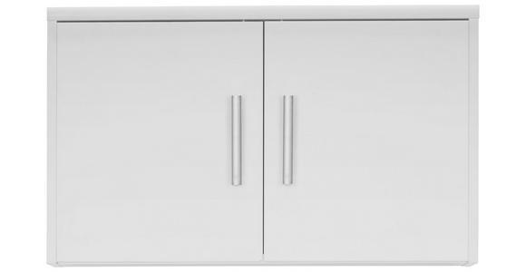 AUFSATZSCHRANK - Silberfarben/Weiß, KONVENTIONELL, Holzwerkstoff/Kunststoff (72/43/54cm) - Xora