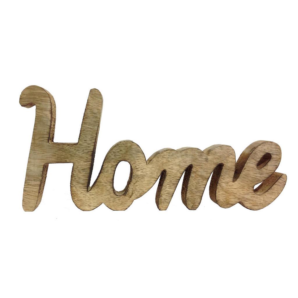 Image of Ambia Home Dekoschriftzug , 72620150 , Naturfarben , Holz , Mangoholz , massiv , Uni , 2.5x12x26 cm , Natur,Echtholz , zum Stellen , 0057090048