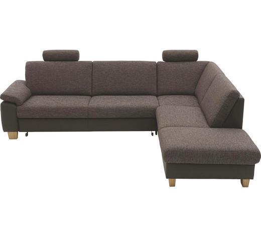 WOHNLANDSCHAFT in Textil Braun - Braun, KONVENTIONELL, Holz/Textil (287/233cm) - Beldomo System