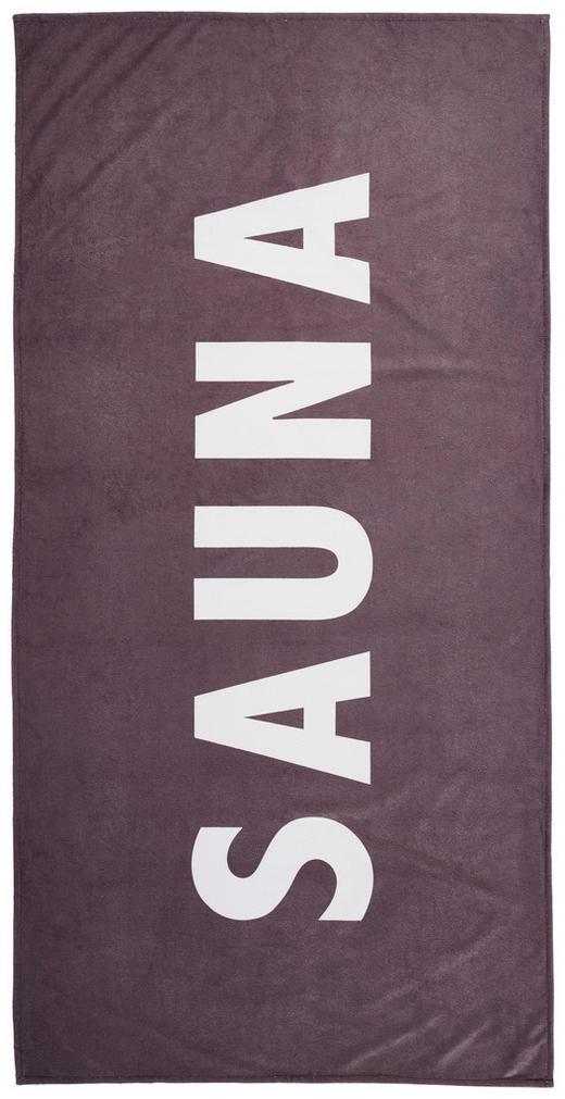 SAUNATUCH 90/180 cm - Anthrazit/Weiß, KONVENTIONELL, Textil (90/180cm) - Esposa